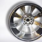 Polished alloy wheel